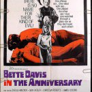 THE ANNIVERSARY ~ '67 Camp HAMMER Horror 1-Sheet Movie Poster ~ BETTE DAVIS / SHEILA HANCOCK