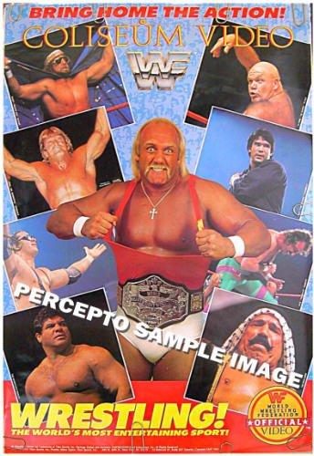 HULK HOGAN / BRETT HART / JAKE THE SNAKE / IRON SHEIK  ~ WWF '86 RARE Wrestling Poster ~ WWE