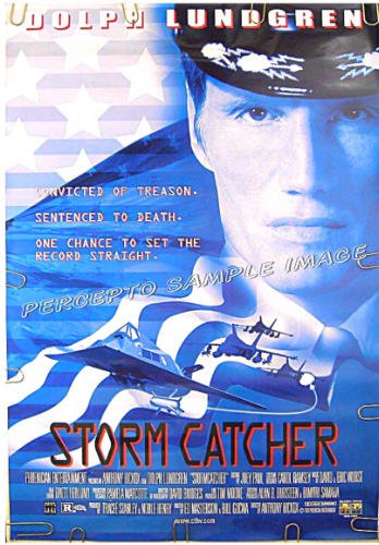 STORM CATCHER ~ '99 RARE TITLE Action Movie Poster ~ DOLPH LUNDGREN