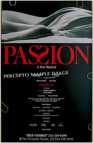 PASSION ~ Orig '95 Broadway Musical Poster ~ STEPHEN SONDHEIM / JAMES LAPINE / DONNA MURPHY