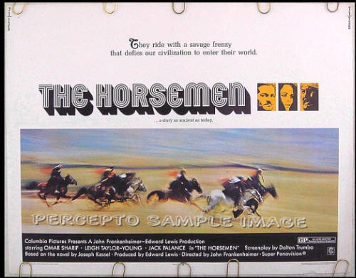 The HORSEMEN ~ '71 Half-Sheet Movie Poster ~ OMAR SHARIF / JACK PALANCE / LEIGH TAYLOR YOUNG