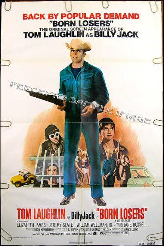 BORN LOSERS ~ R74 1-Sheet BIKER GANG Movie Poster ~ TOM LAUGHLIN / BILLY JACK / CYCLES