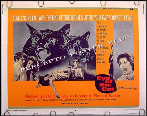 EYE OF THE CAT ~ '69 Half-Sheet Movie Poster ~ ELEANOR PARKER / MICHAEL SARRAZAN / GAYLE HUNNICUT