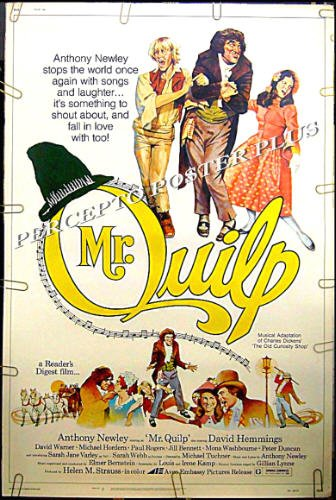 OLD CURIOSITY SHOP / MR. QUILP ~ '75 40x60 MUSICAL Movie Poster  ~ ANTHONY NEWLEY / DAVID HEMMINGS