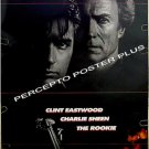 The ROOKIE ~ ~ '90 1-Sheet DOUBLE-SIDE Movie Poster ~ CLINT EASTWOOD / CHARLIE SHEEN