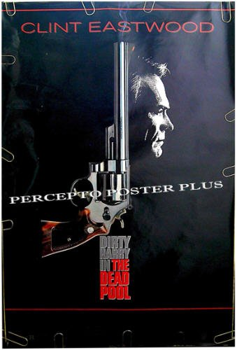The DEAD POOL ~ '88 1-Sheet DIRTY HARRY Movie Poster ~ CLINT EASTWOOD / LIAM NEESON / JIM CARREY
