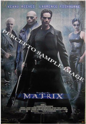 The MATRIX ~ '99 1-Sheet SCI-FI CLASSIC Movie Poster ~ KEANU REEVES / LAURENCE FISHBURNE