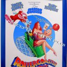 ROLLERCOASTER RABBIT ~ '90 Rare Movie Featurette Cartoon Poster ~ ROGER RABBIT / BABY HERMAN