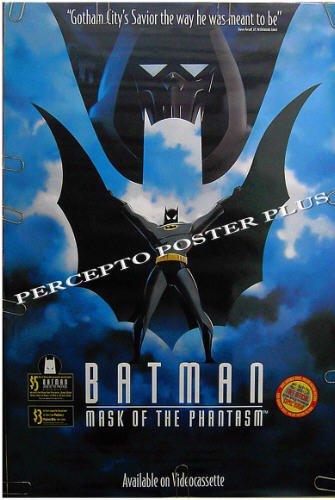 BATMAN Mask Of The Phantasm ~ '94 DC COMICS ART 1-Sheet Movie Poster ~ DARK KNIGHT / MARK HAMILL