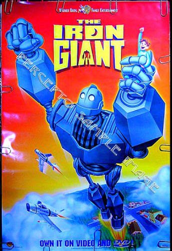 The IRON GIANT ~ '99 Rolled 1-Sheet SCI-FI ANIMATION Movie Poster ~ ROBOT ART