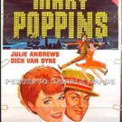 MARY POPPINS - '80s WALT DISNEY 1-Sheet Movie Poster - JULIE ANDREWS / DICK VAN DYKE / GLYNIS JOHNS