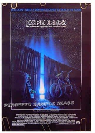 EXPLORERS ~ '85 SCI-FI Promo Movie Poster ~ JOE DANTE / ETHAN HAWK / RIVER PHOENIX