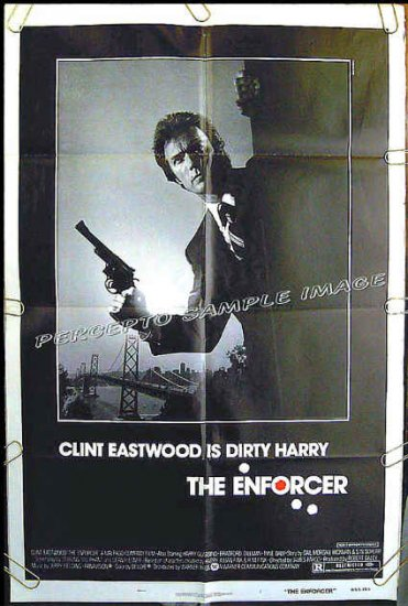 The ENFORCER ~ Dirty Harry '76 US 1Sheet Movie Poster ~ CLINT EASTWOOD / TYNE DALY / HARRY GUARDINO