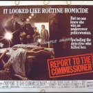 REPORT TO THE COMMISSIONER ~ '75 PULP ART Half-Sheet Movie Poster ~ MICHAEL MORIARTY / YAPHET KOTTO