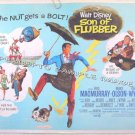 SON OF FLUBBER ~Orig R70 WALT DISNEY Half-Sheet Movie Poster ~ FRED MacMURRAY / TOMMY KIRK / ED WYNN