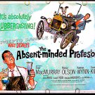 ABSENT MINDED PROFESSOR ~ R74 Half-Sheet Movie Poster ~ FRED MacMURRAY / WALT DISNEY FLUBBER Classic