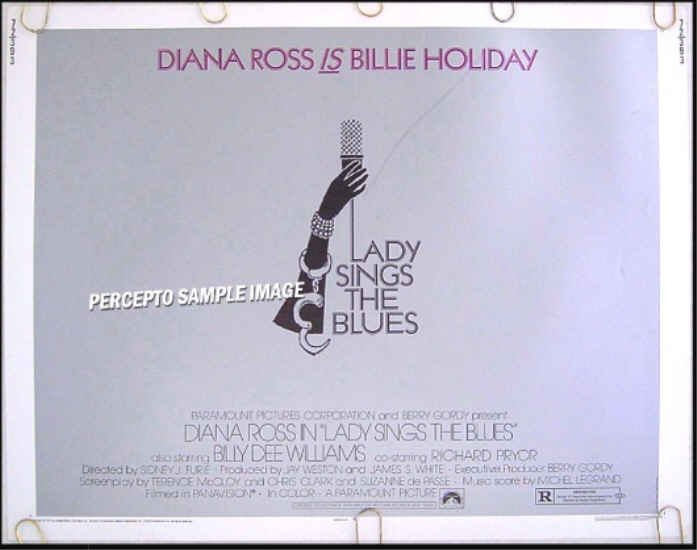 LADY SINGS THE BLUES ~ '72 Half-Sheet BILLIE HOLIDAY Movie Poster ~  DIANA ROSS / RICHARD PRYOR