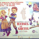 HANSEL AND GRETEL ~ '65 Half-Sheet Movie Poster ~ STOP MOTION ANIMATION PUPPETS ~ MILDRED DUNNOCK