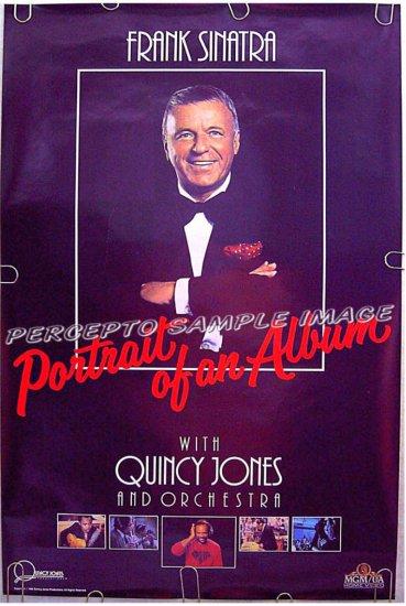FRANK SINATRA Portrait of an Album ~ Rare '86 1-Sheet Poster ~  QUINCY JONES