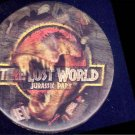 JURASSIC PARK : LOST WORLD ~ '97 LENTICULAR Movie Logo Promo Pinback ~ T-REX / DINOSAUR
