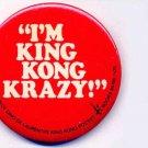 KING KONG ~ Original 1976 HORROR MOVIE PROMOTION PINBACK ~ JESSICA LANGE