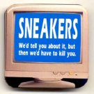 SNEAKERS ~ Original 1992 Computer Screen MOVIE PROMO PINBACK ~ ROBERT REDFORD / DAN AYKROYD