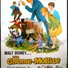 GNOME MOBILE ~ '67 / R76 WALT DISNEY 40x60 Movie Poster ~  WALTER BRENNAN / ED WYNN