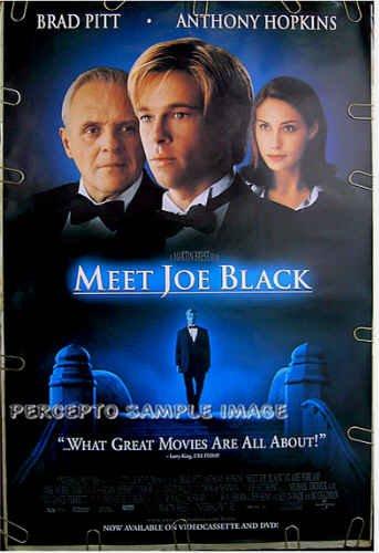 MEET JOE BLACK ~ Orig '98 1-Sheet Movie Poster ~  BRAD PITT / ANTHONY HOPKINS