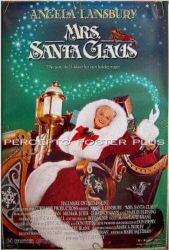MRS SANTA CLAUS ~ '97 Orig Christmas Holiday 1-Sheet Movie Poster ~ ANGELA LANSBURY / JERRY HERMAN