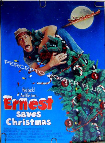 ERNEST SAVES CHRISTMAS ~ '88 Promo Movie Poster ~ JIM VARNEY / HOLIDAY