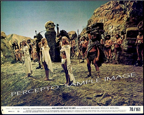 WHEN DINOSAURS RULED THE EARTH ~ Sexy '70 Caveman Movie Photo ~ VICTORIA VETRI / ANGELA DORIAN