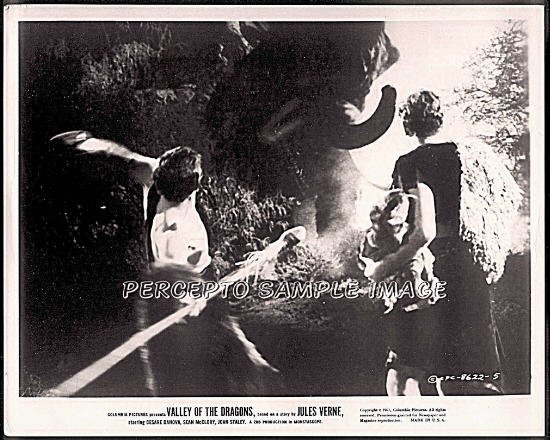 VALLEY OF THE DRAGONS ~ Orig '61 Sci-Fi Movie Photo ~ MAMMOTH ATTACK / DINOSAUR