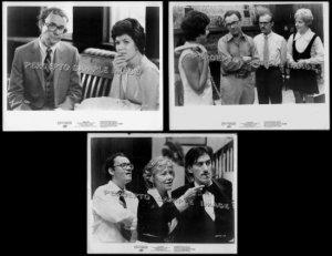 TAKING OFF ~ Set of THREE (3) Orig '71 Movie Photos ~ BUCK HENRY / GEORGIA ENGEL / AUDRA LINDLEY