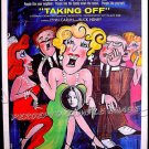 TAKING OFF ~ '71 1-Sheet Movie Poster ~  BUCK HENRY / GEORGIA ENGEL / MILOS FORMAN / BACHA Art