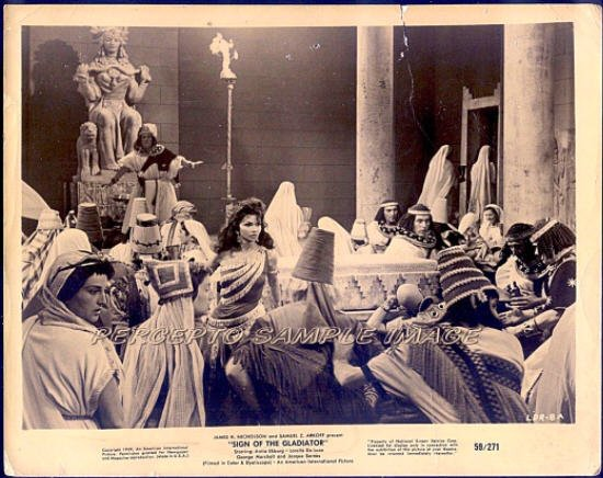 SIGN OF THE GLADIATOR ~ Orig '59 Movie Photo ~ TEMPLE ORGY