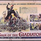 SIGN OF THE GLADIATOR ~ '59 Half-Sheet Movie Poster ~ ANITA ECKBERG / REYNOLD BROWN Art