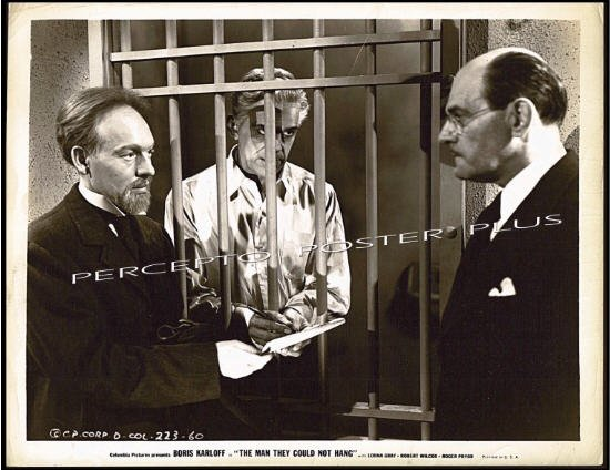 The MAN THEY COULD NOT HANG ~ 1939 Movie Photo ~ BORIS KARLOFF