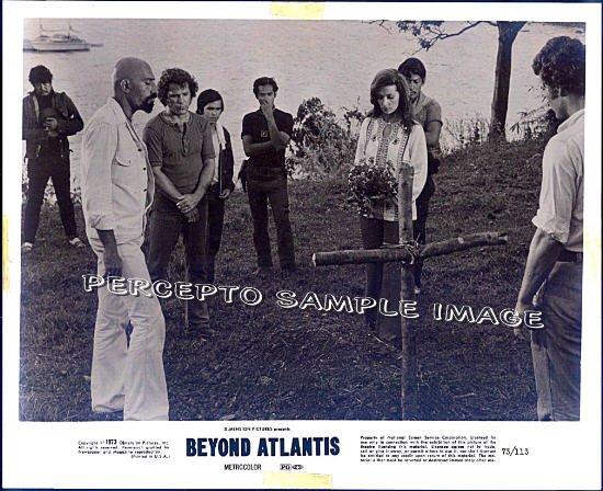 BEYOND ATLANTIS ~ '73 Original CULT CLASSIC Movie Photo ~ PATRICK WAYNE / LENORE STEVENS