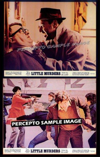 LITTLE MURDERS ~ '70 LOT OF 2 Orig Movie Photos ~ ALAN ARKIN / ELLIOTT GOULD / JULES FEIFFER