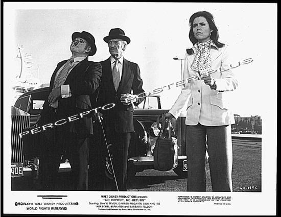 NO DEPOSIT NO RETURN ~ '86 DISNEY Comedy Movie Photo ~ BARBARA FELDON  / DAVID NIVEN