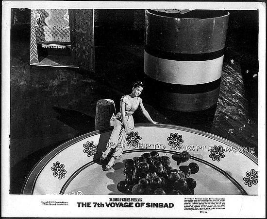 THE 7th VOYAGE OF SINBAD ~ 1958 Orig R75 RAY HARRYHAUSEN Movie Photo ~ Tiny KATHRYN GRANT