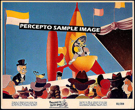 PINOCCHIO IN OUTER SPACE ~ Rare '65 Color ANIMATION ART / Cartoon Movie Photo ~ Space Ship