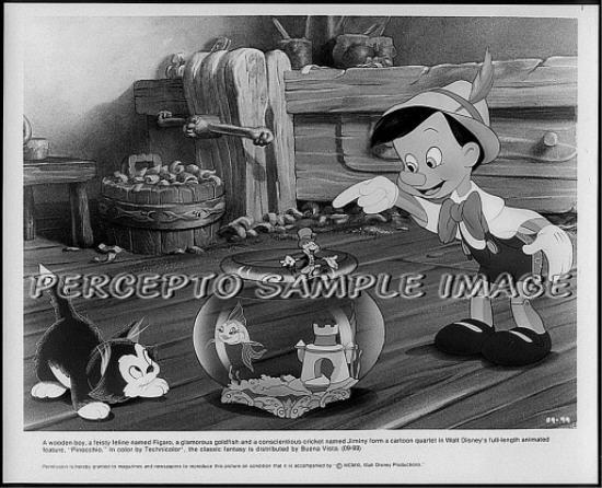 PINOCCHIO ~ 1940 Orig WALT DISNEY R84 Movie Photo ~ with FIGARO The Cat & JIMINY CRICKET