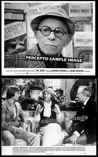 OH GOD! ~ Lot of 2 CARL REINER 1977 Comedy Movie Photos ~ GEORGE BURNS / DINAH SHORE / JOHN DENVER