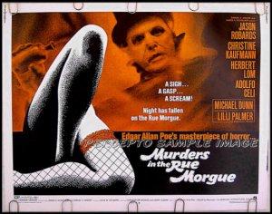 MURDERS IN THE RUE MORGUE ~ '71 Half Sheet AIP Movie Poster ~ Edgar Allan Poe / JASON ROBARDS