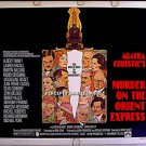 MURDER On The ORIENT EXPRESS ~ '74 AMSEL ART Half-Sheet Movie Poster ~ ALBERT FINNEY / SEAN CONNERY
