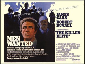 The KILLER ELITE ~ Rolled '75 Half-Sheet Movie Poster ~ JAMES CAAN / ROBERT DUVAL / SAM PECKINPAH