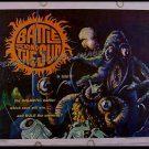 BATTLE BEYOND THE SUN ~ '62 AIP SCI-FI Half-Sheet Movie Poster ~ MONSTERS / ASTRONAUTS / SPACESHIPS