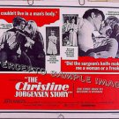 CHRISTINE JORGENSEN STORY ~ 1970 Half-Sheet SEX CHANGE Movie Poster ~ GAY INTEREST / JOHN HANSEN