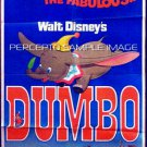 DUMBO ~ Ex-Cond Orig '76 1-Sheet Movie Poster ~ ANIMATION / WALT DISNEY CLASSIC / FLYING ELEPHANT